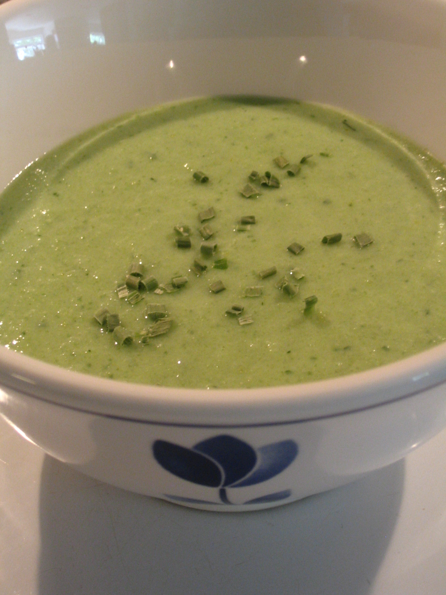 (c)2009 Em at https://diabetesdietdialogue.wordpress.com Spring Green Kefir Soup