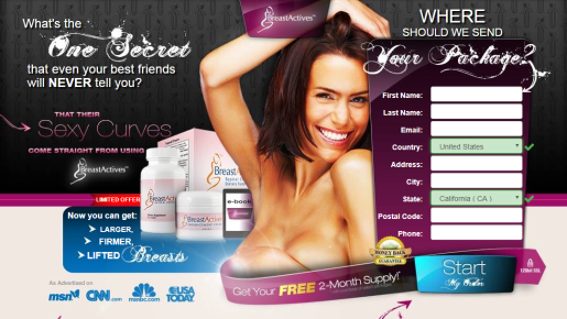 Breast Actives Topical Cream & Dietary Supplement Review