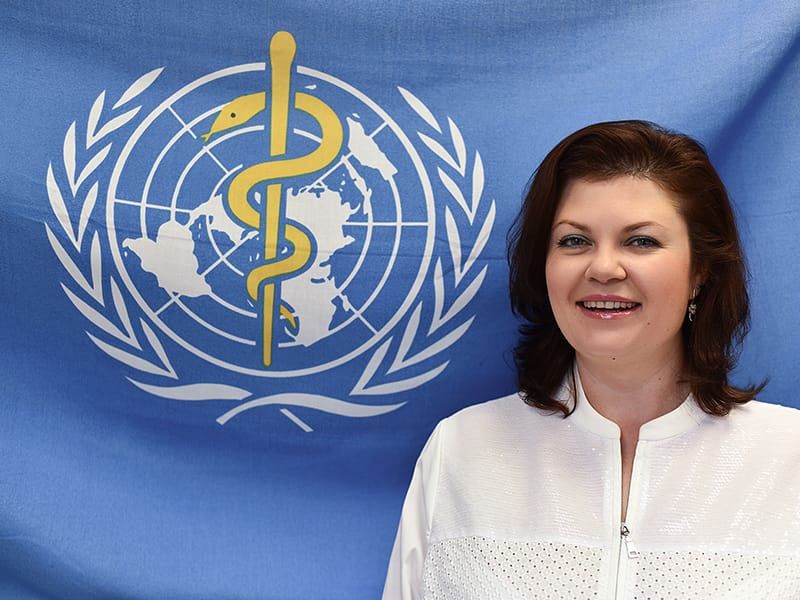 Dr Svetlana Axelrod, WHO Assistant Director-General for NCDs and Mental Health