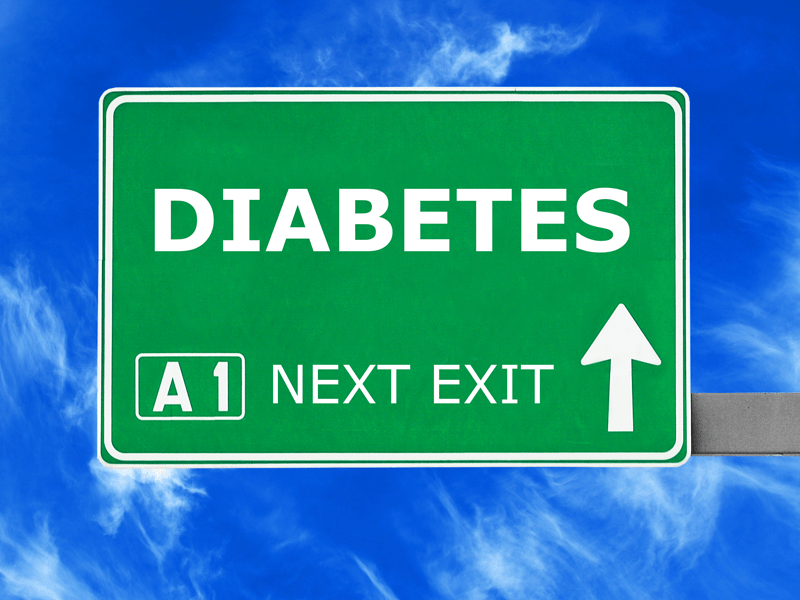 Diabetes road sign
