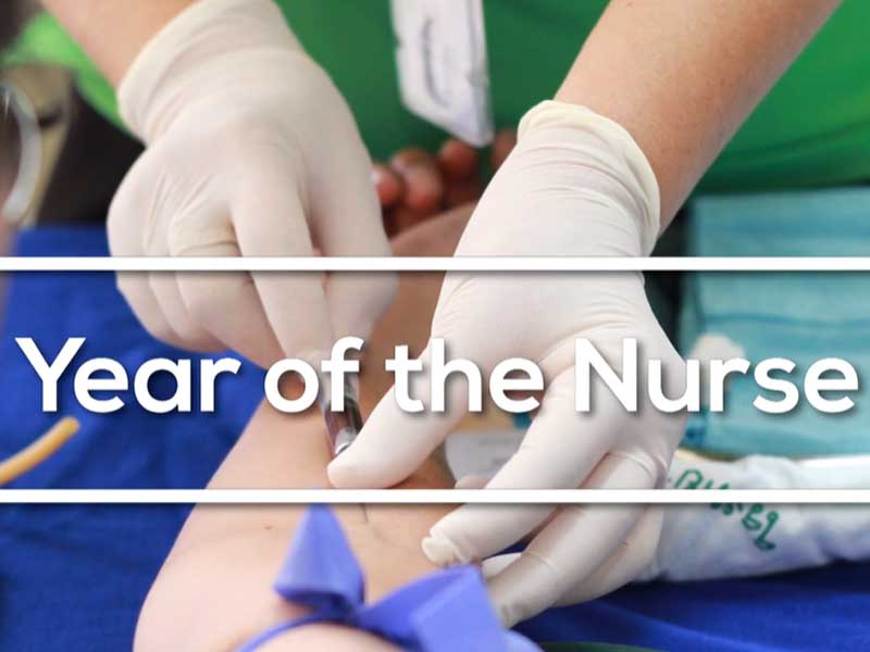 Promo video screen capture - Year of the Nurse