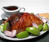 Walnut-Stuffed Turkey Breast with Cider Gravy Recipe. DiabeticGourmet.com