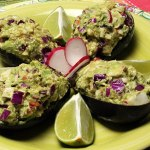 Chicken Salad Stuffed Avocado recipe photo from the Diabetic Gourmet Magazine diabetic recipes archive.