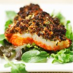 Cod with Mushroom-Herb Duxelles