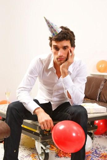 Sad Guy at Party