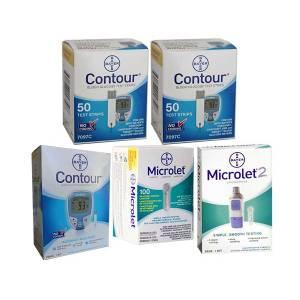 contour-test-strips-microlet-lancets-contour-meter-microlet2-lancing-device