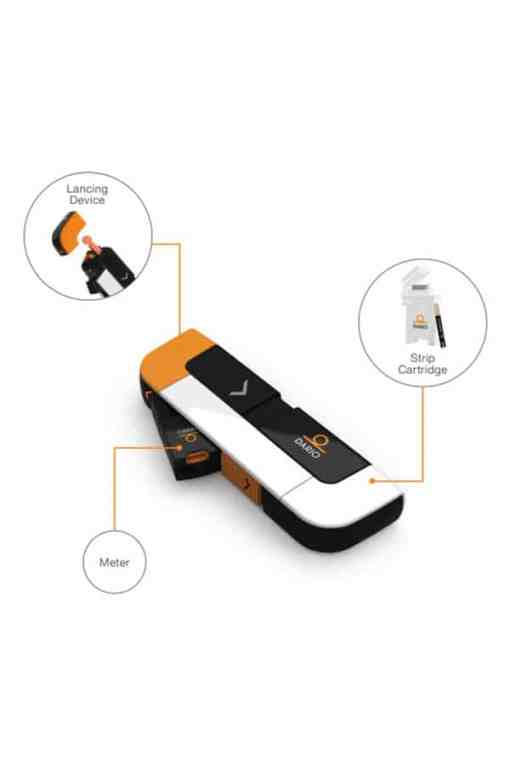 DARIO LC GLUCOSE METER KIT LIGHTNING CONNECTOR FOR IPHONE 7, 7+, 8, 8+, AND X