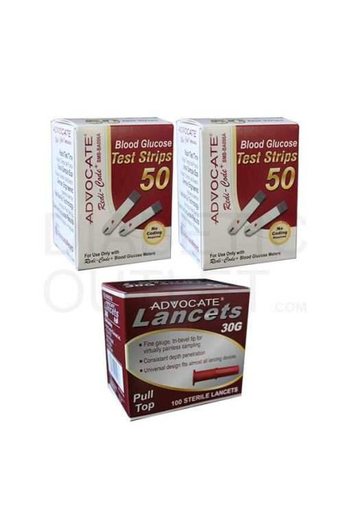 Advocarte-redicode-test-strips-+-pull-top-lancets