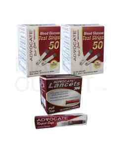 Advocate-Redicode-test-strips-+-pull-top-lancets-+-red-dot-lancing-device