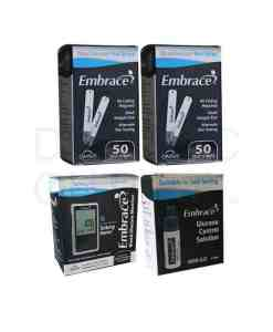 EMBRACE TEST STRIPS + METER + CONTROL SOLUTION HIGH