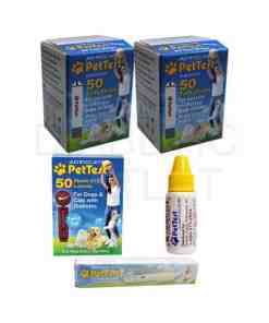 PETTEST-STRIPS-+-LANCETS+-LANCING-DEVICE-+-CONTROL-SOLUTION