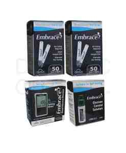 EMBRACE TEST STRIPS + METER + CONTROL SOLUTION LOW