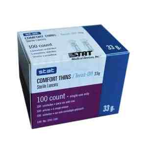 Stat-Comfort-Thins-Lancets-100-count-33g-