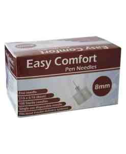 EASY COMFORT INSULIN PEN NEEDLES 100/BOX