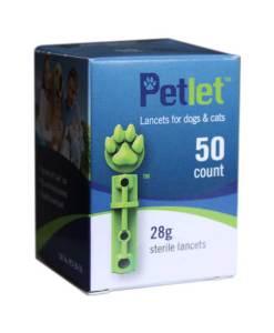 PETLET TWIST TOP LANCETS 50ct. 28G