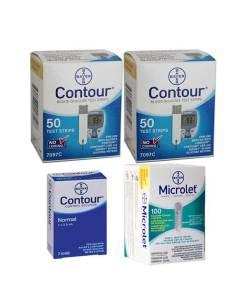 CONTOUR + MICROLET LANCETS + CONTROL SOLUTION NORMAL