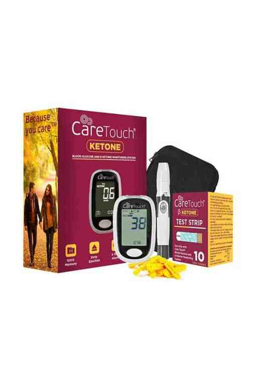 CARETOUCH BLOOD GLUCOSE AND KETONE METER KIT