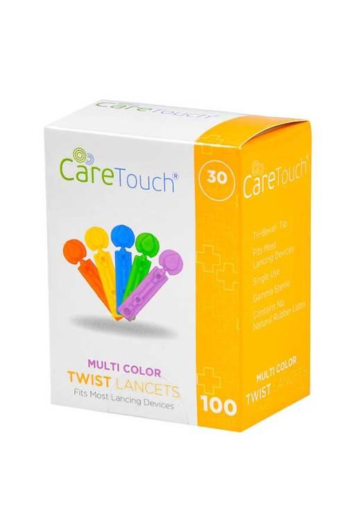 CareTouch-lancets-twist-top-100-count-30G multi color