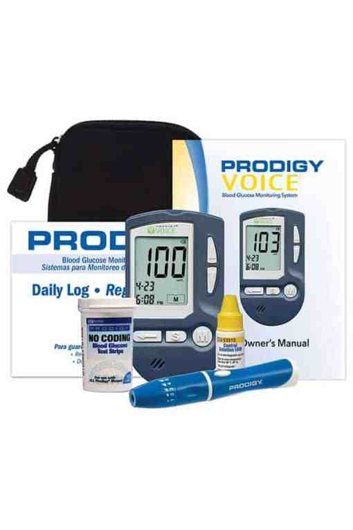 Prodigy-Voice-glucose-meter-kit