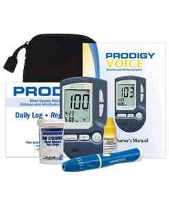 PRODIGY VOICE GLUCOSE METER KIT FULLY AUDIBLE