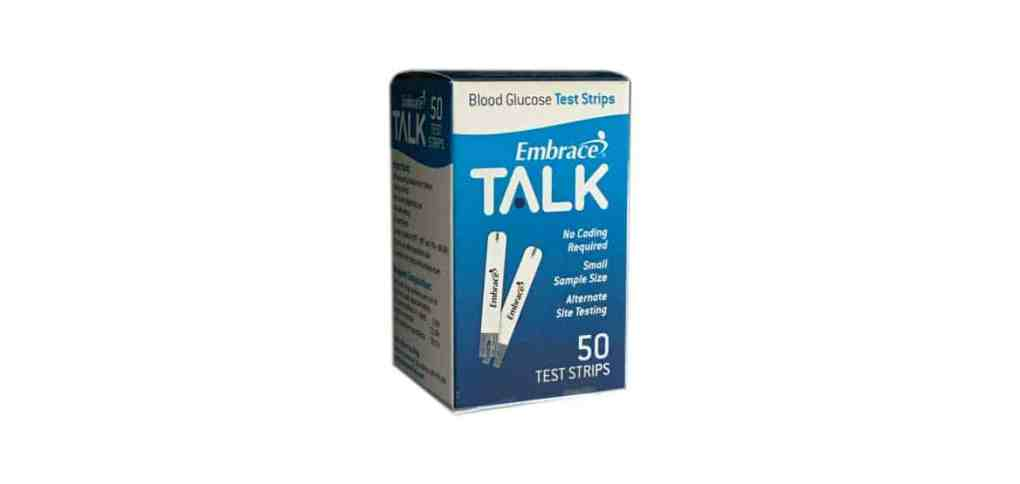 Embrace-talk-blood-glucose-test-strips