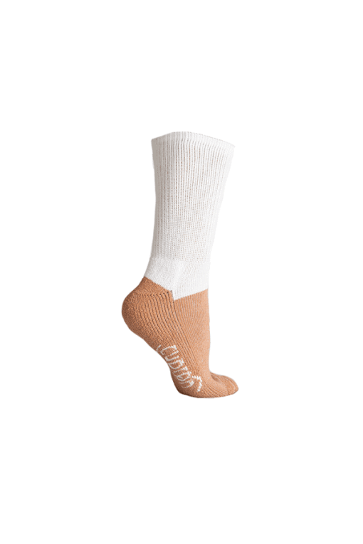 white diabetic activity sock
