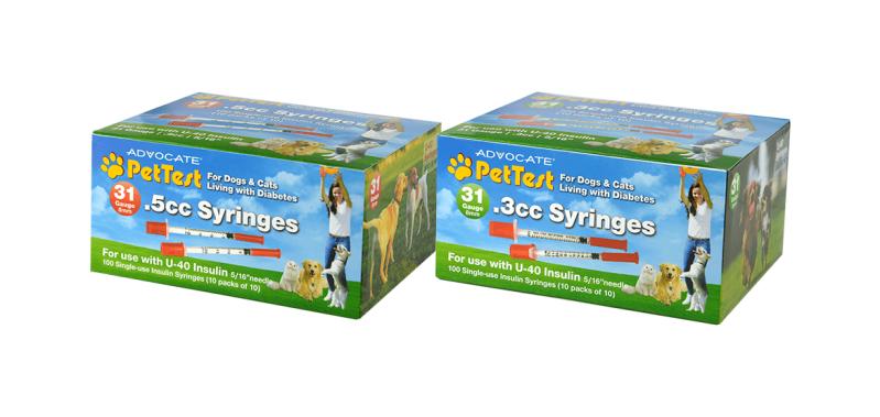 advocate pettest syringes 31g syringes for pets