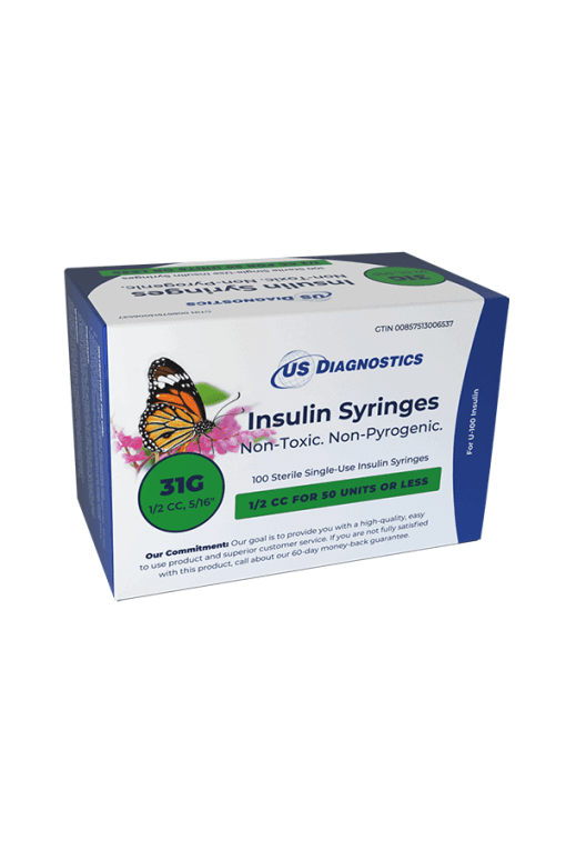 US Diagnostics insulin syringes 31G 0.5cc