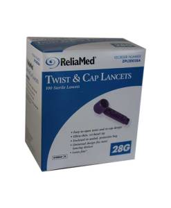 RELIAMED UNIVERSAL TWIST & CAP LANCETS 100ct. 28G