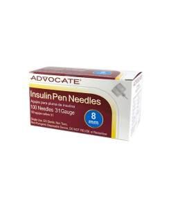 ADVOCATE INSULIN PEN NEEDLES 100/BOX