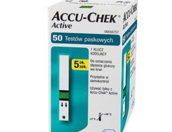 Opakowanie 50 pasków AccuChek Active