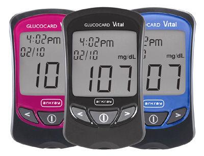 Glucocard Vital w 3 równych wersjach kolorystycznych/