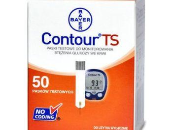Opakowanie 50 pasków testowych Contour TS