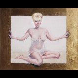Diana and Her Golden Portal, 20×16″, 2016