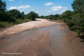 La rivière Mushilashi le 14 mars, quasiment à sec.