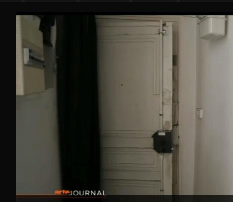 Capture d'écran d'un reportage d'Arte chez Thomas Clerc