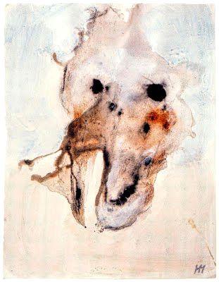 Henri Michaux, aquarelle, 1981