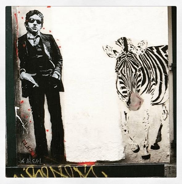 Gainsbourg par Jef Aérosol, Paris, place Clichy Rue de Verneuil © C. Marcandier