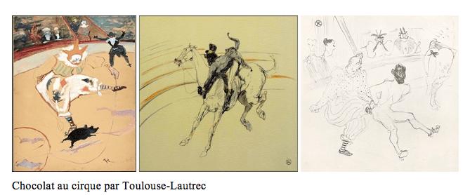Chocolat au cirque par Toulouse Lautrec