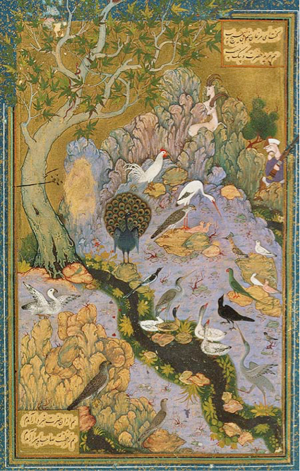 Cantique des oiseaux, peint par Habib Allah