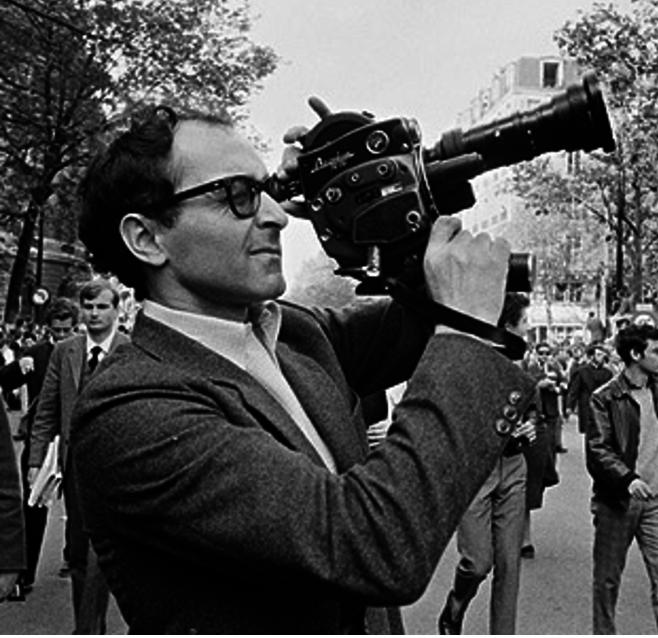 « Jean-Luc filmait l'arrivée du cortège avec une caméra Beaulieu 16 mm, debout sur un banc » (Un an après)