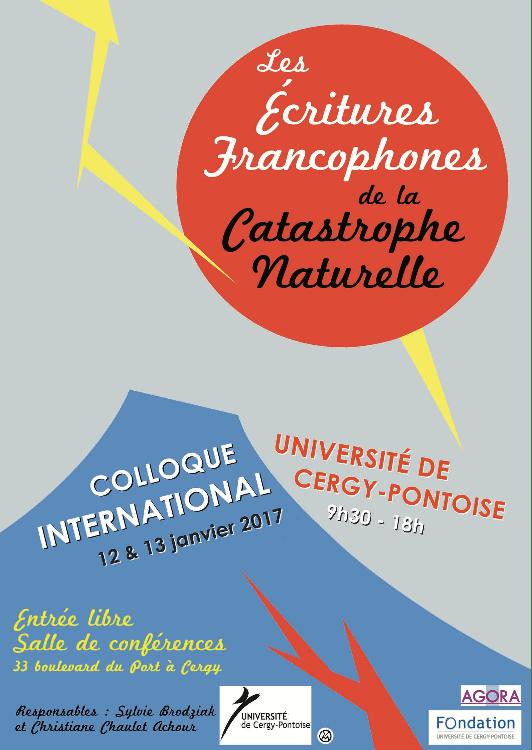 écritures francophones de la catastrophe naturelle
