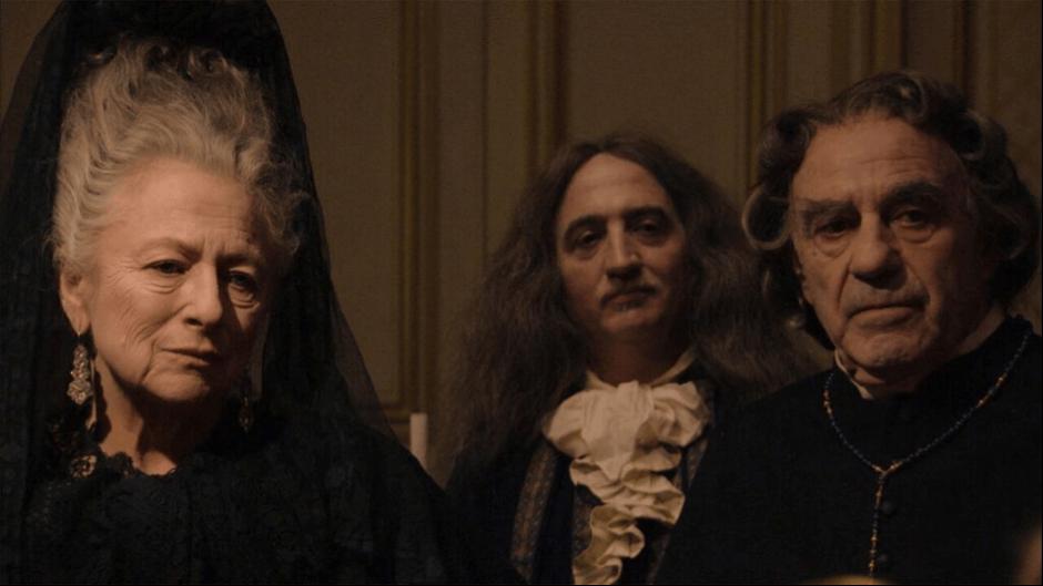 Mme de Maintenon (Irène Silvagni), Louis Blouin (Marc Susini), le père jésuite Michel Le Tellier (Jacques Henric)