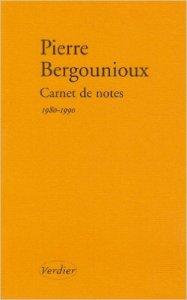 Carnets de note Bergounioux 1980-1990
