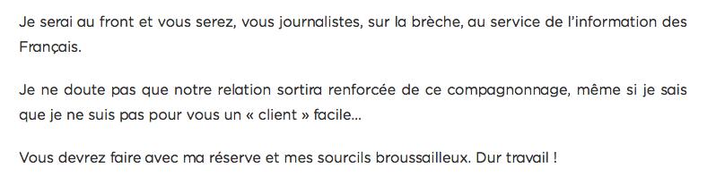 Voeux à la presse François Fillon 2017