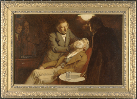 Ernest Board,The first use of ether in dental surgery, 1846.