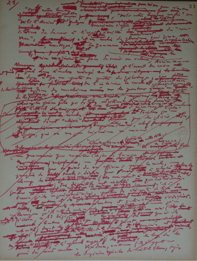 BnF, Mss., NAF 28509(13), Fuzzy sets, f. 21. © Olivier Wagner avec l'aimable autorisation d'Ariane Ollier-Malaterre