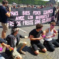 En Marche stoppé par des militants à la Marche des Fiertés : Pas de fierté sans solidarité !