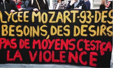 Tribune : Ils ont volé la banderole du lycée Mozart