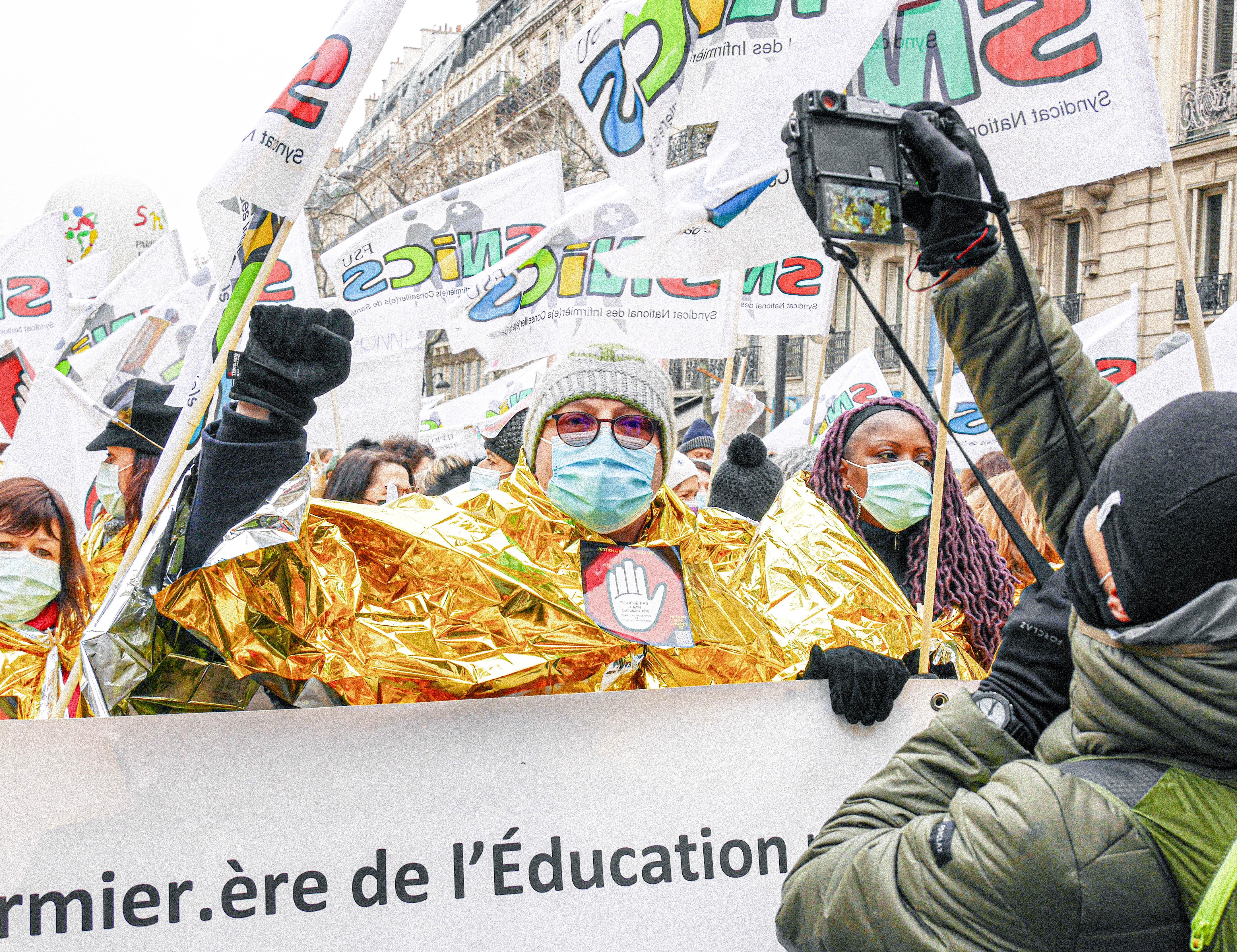 Contre la politique de Blanquer et Vidal : manifestation de l'Education nationale (Paris, 26 janvier 2021)